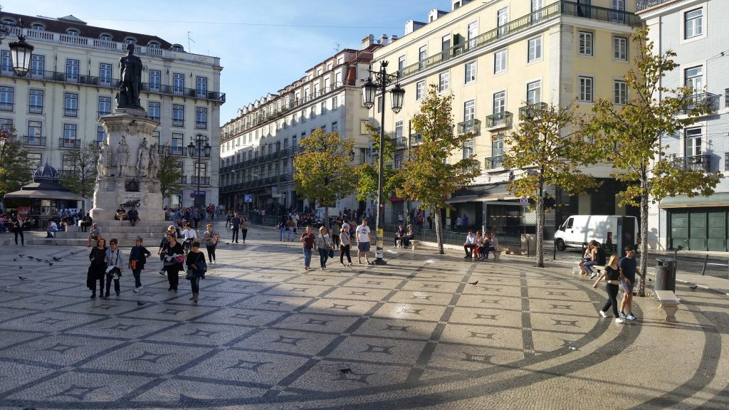 Tiled Plaza in Lisbon